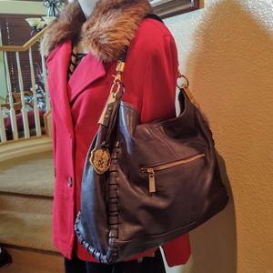 Vince Camuto Blue Leather Hobo Tote Style Shoulder Bag